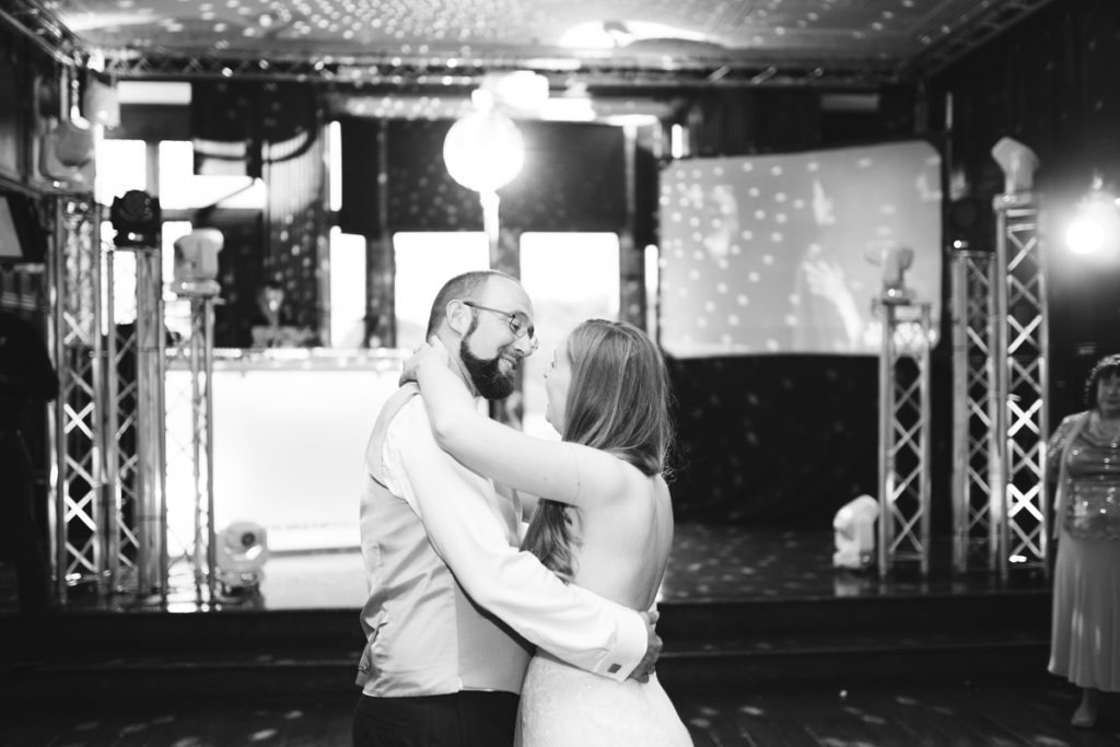 night time wedding photograph