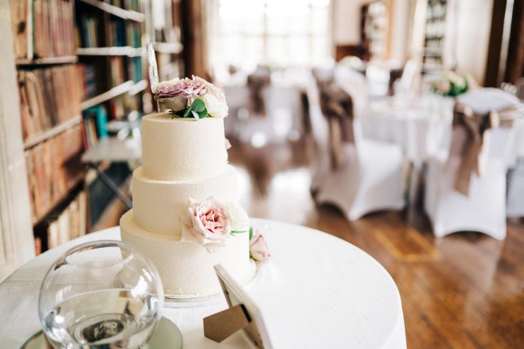 schools at Somerhill wedding cake
