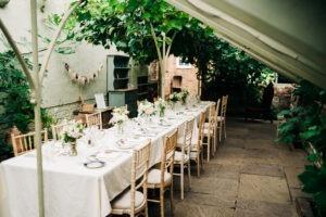glass house setup at Secret Garden Kent Ashford