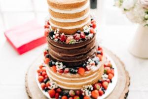 cake at secret Garden wedding kent ashford