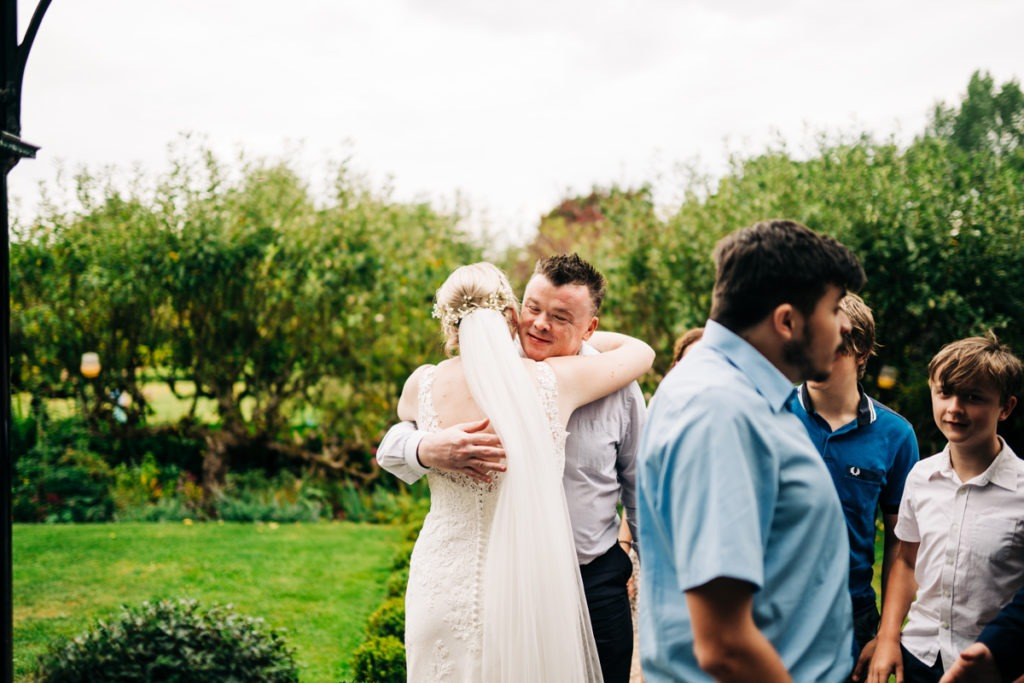 tender moments at Secret Garden Kent wedding