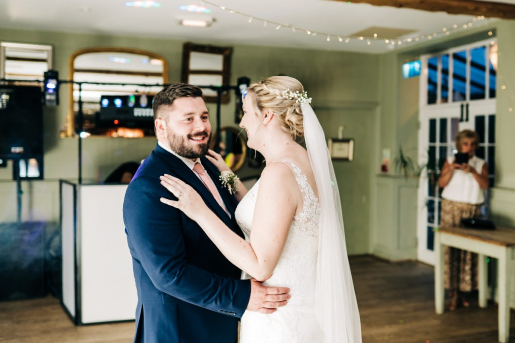 first dance at secret garden ashford wedding