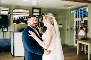first dance at secret garden ashford wedding