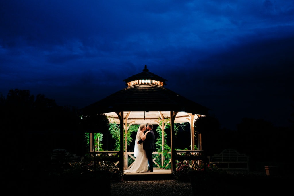 after dark at Secret Garden Ashford wedding