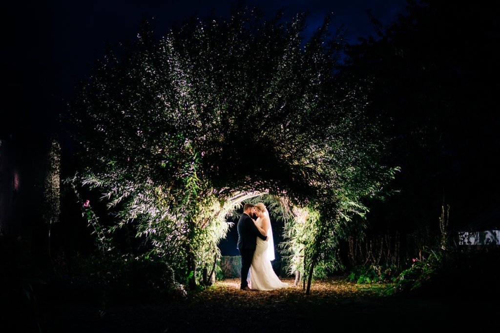 Secret Garden bride and groom portrait