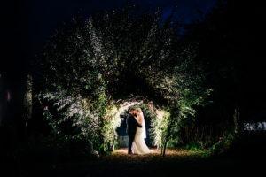 Secret Garden bride and groom portrait
