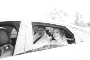 bride arrives at Secret Garden kent