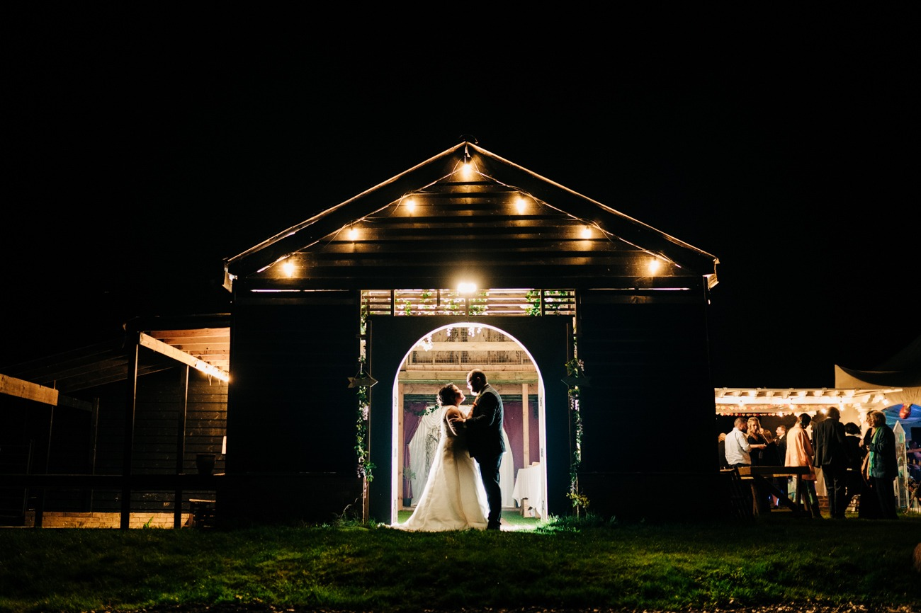 night time bride and groom portraits in kent