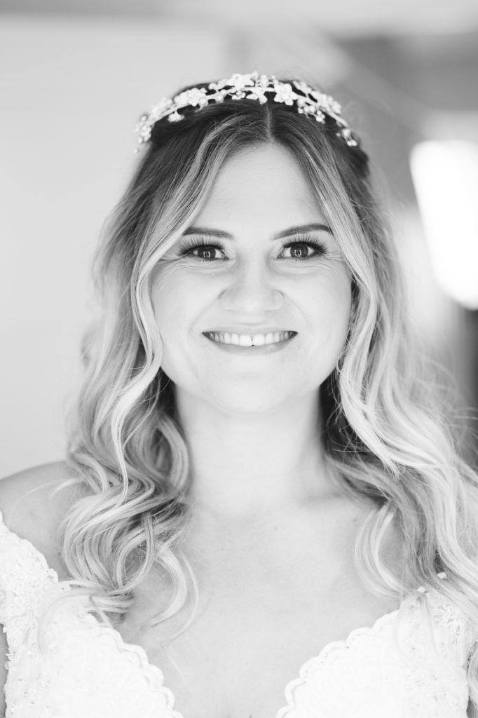 bridal portrait during bridal prep