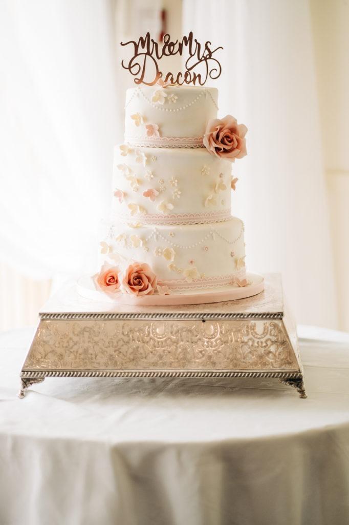 wedding cake at Weald of Kent