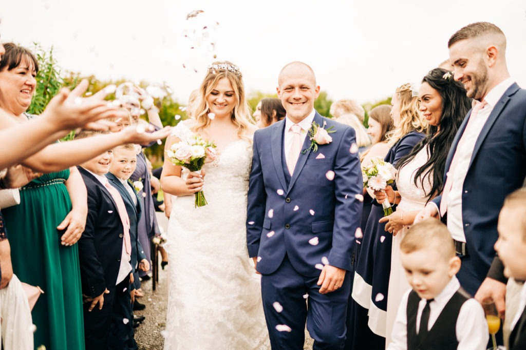 confetti shot at Weald of Kent Golf Course Wedding Maidstone