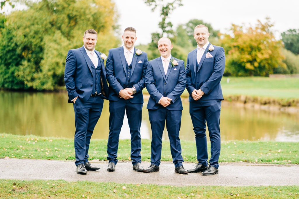 grooms party at weald of kent wedding day