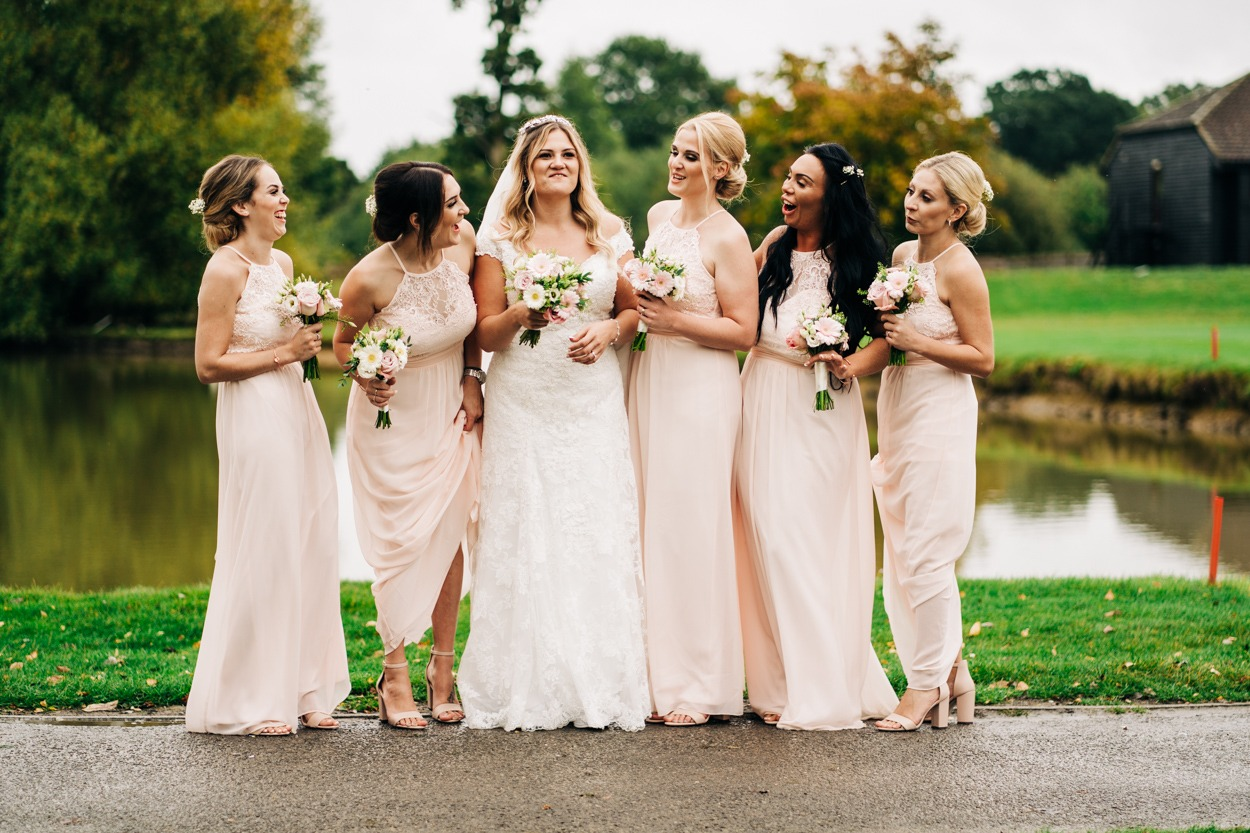 bridal party at weald of kent maidstone golf course wedding