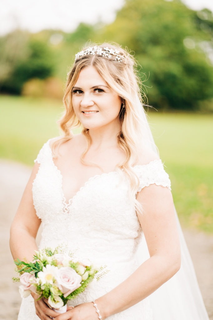bridal portrait from weald of Kent Wedding