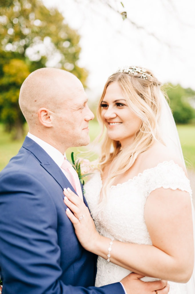 bride and groom portraits at weald of kent wedding