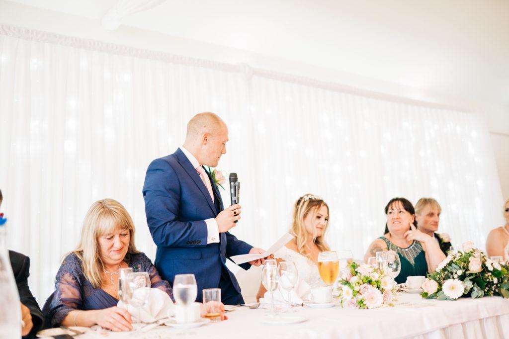 speeches at Weald of Kent wedding