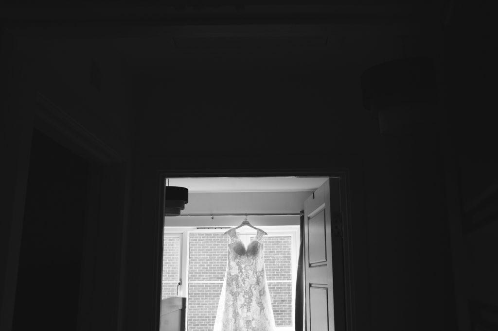 wedding dress before wedding