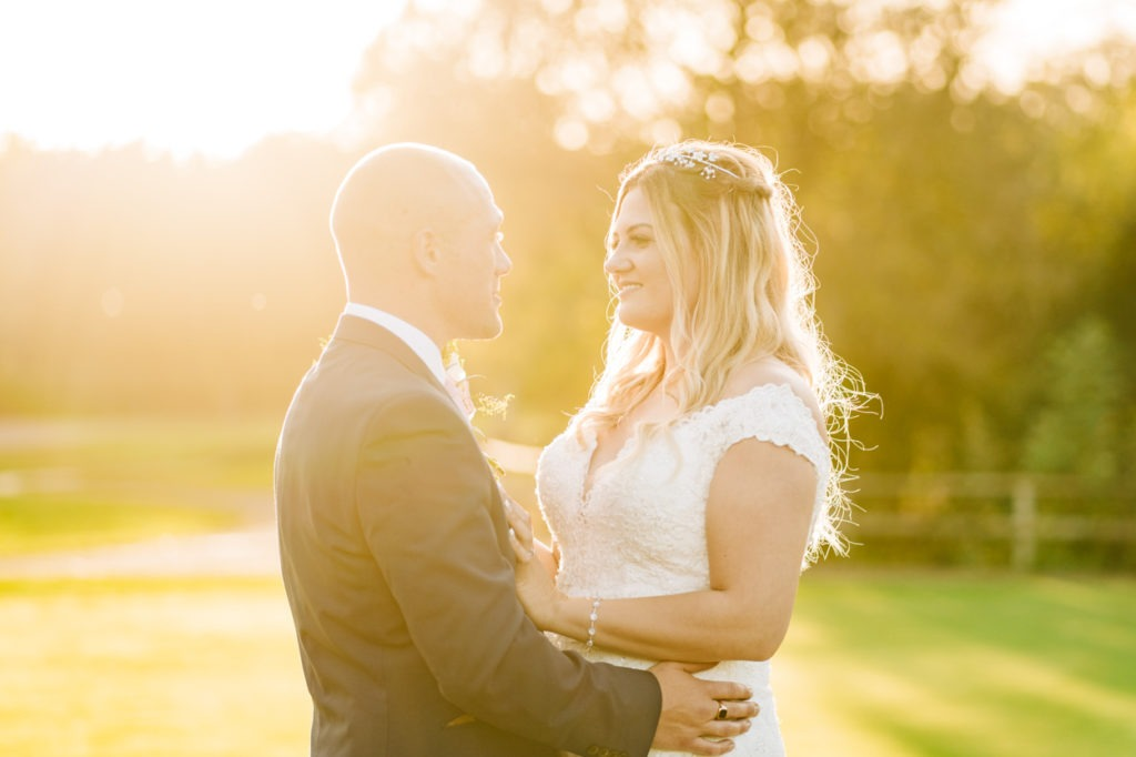 Bride and groom at Weald of Kent