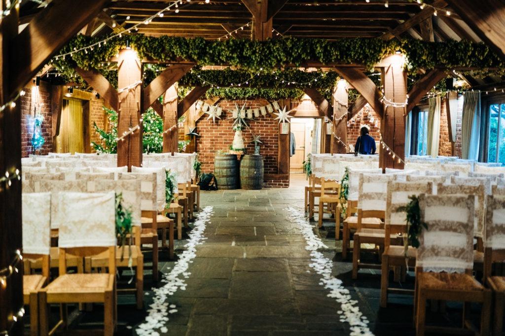 Ferry Hours Inn Interior barn wedding