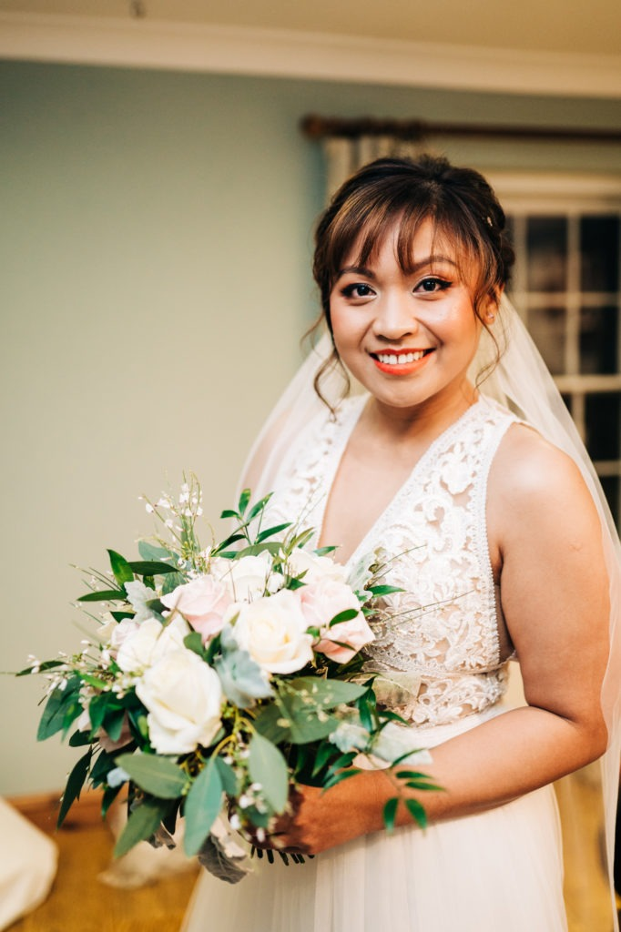 bridal portrait before marrying at Ferry House Inn