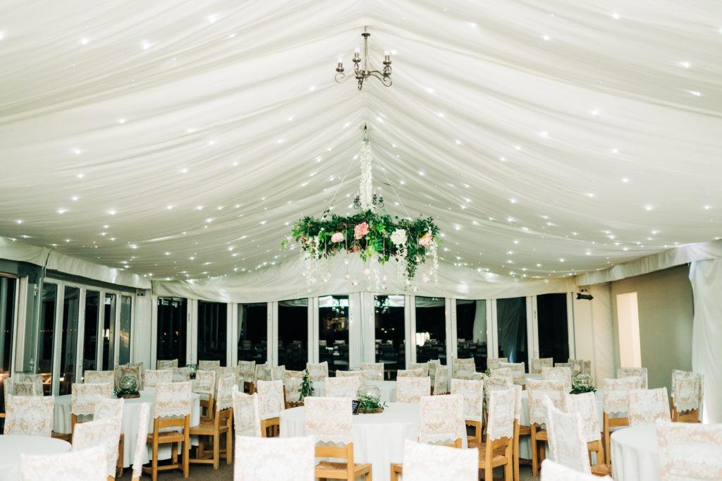 wedding setup at Ferry House Inn
