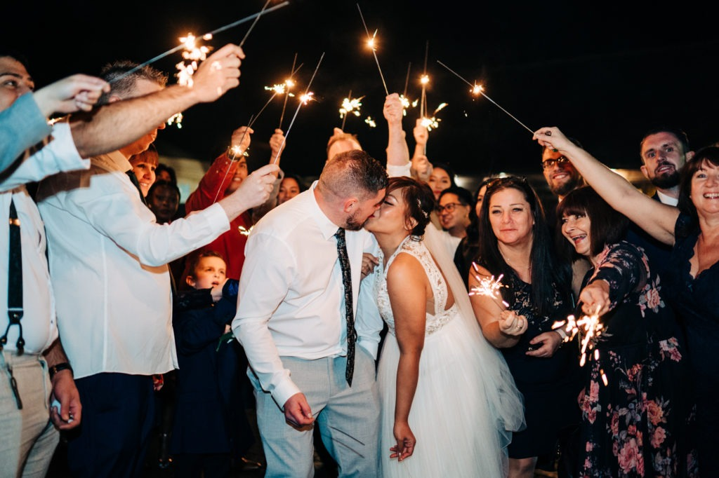 sparklers at Ferry House Inn