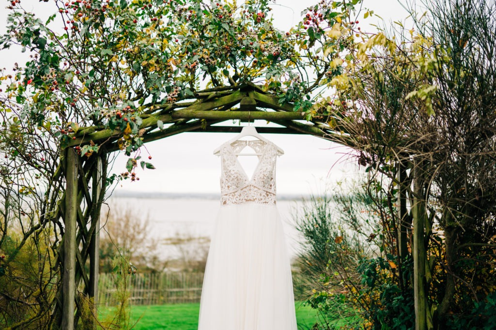 wedding dress at Ferry House inn