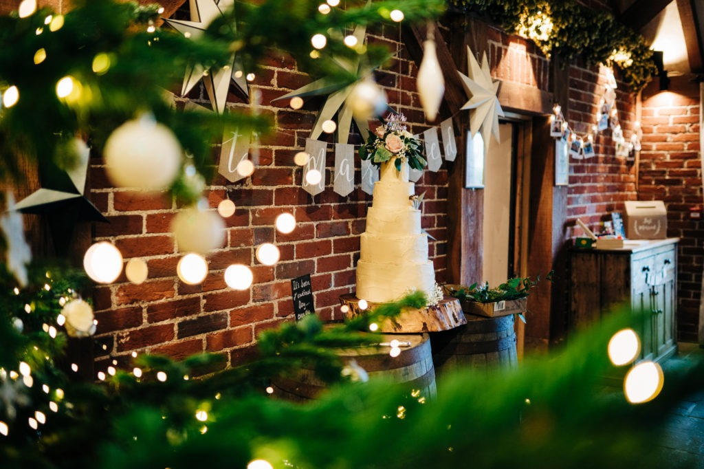 Christmas themed wedding at ferry house inn