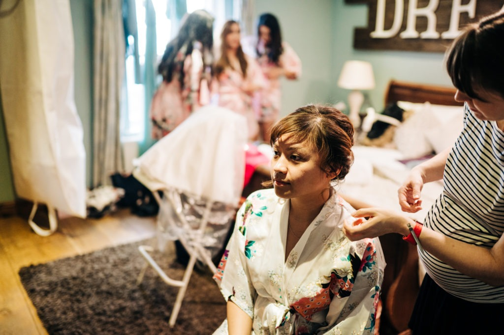 bridal preparations at Ferry House Inn
