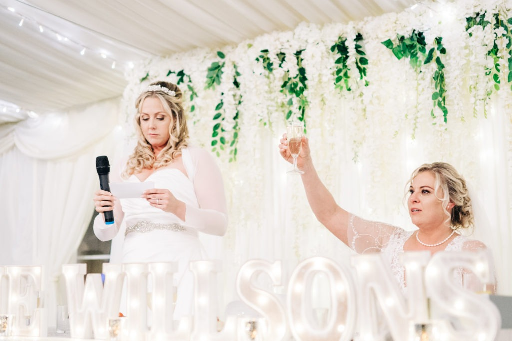 speeches at the barnyard wedding reception in sittingbourne