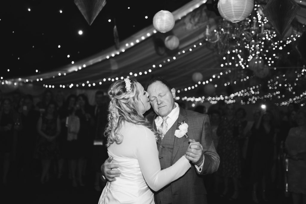 Bride and father dance at The Barnyard