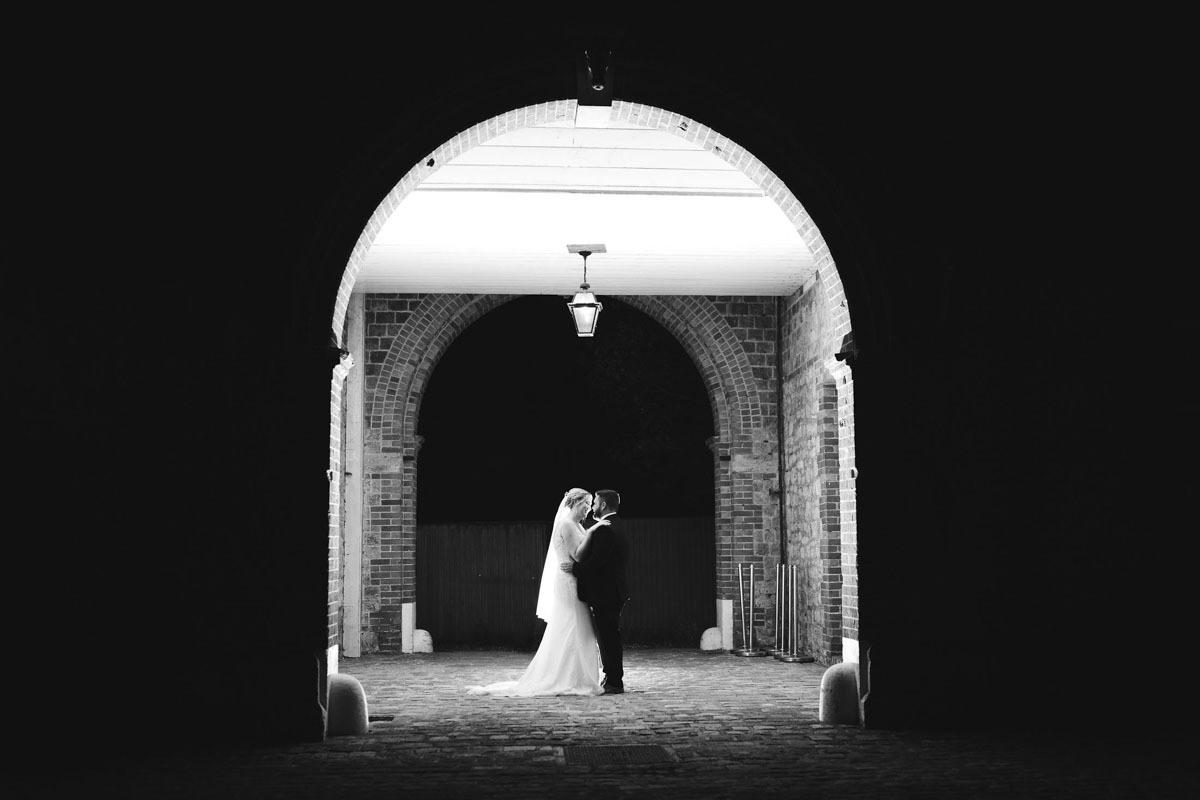 The Secret Garden Night time wedding photo