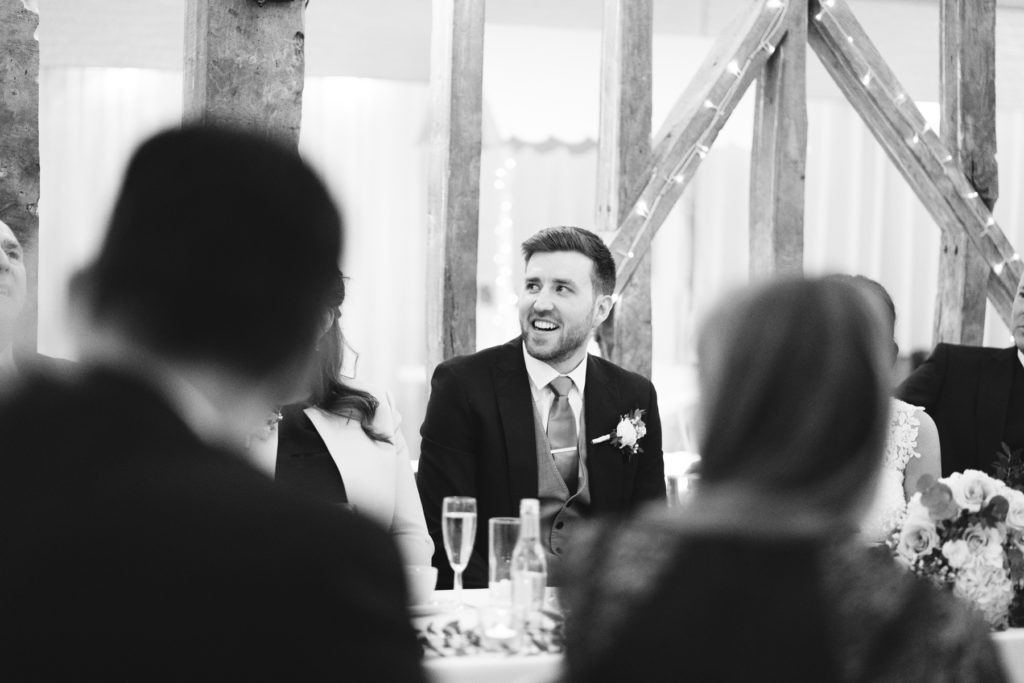 groom during speeches