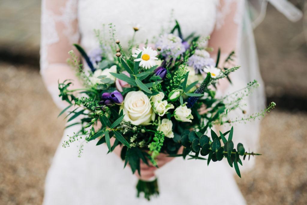 wedding flowers at The BarnYard