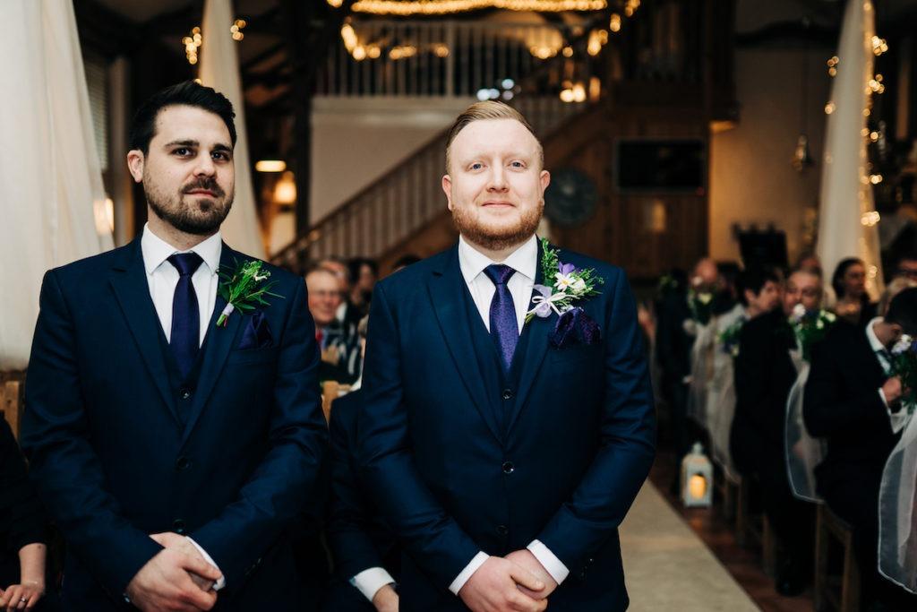 wedding ceremony at The Barnyard Upchurch