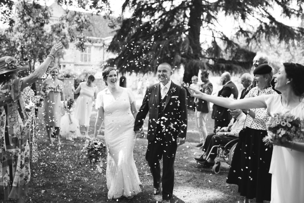 black and white confetti shot archbishops