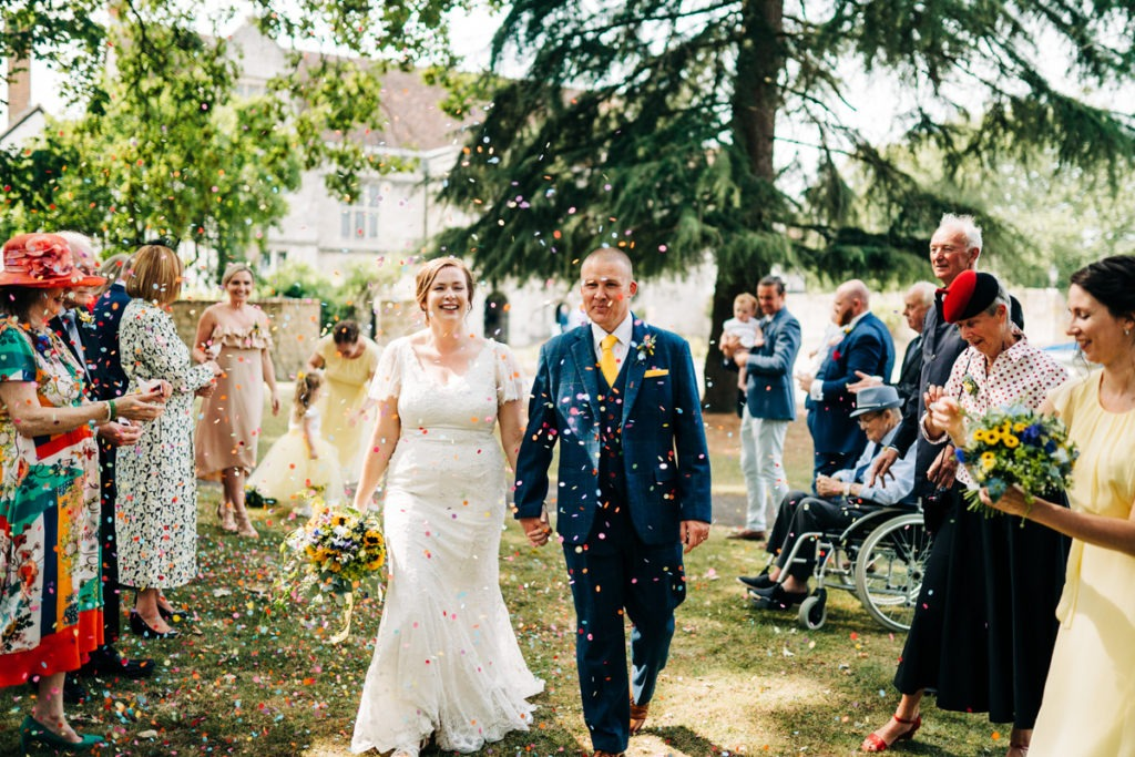 confetti shot in maidstone archbishops palace