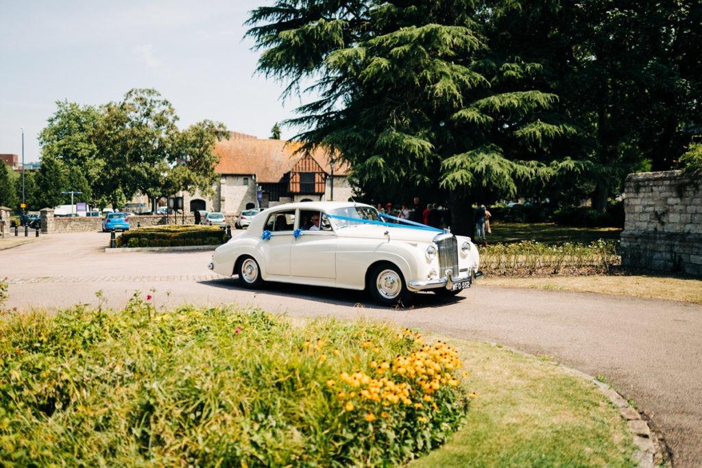 Bentley arrives at Archbishops Palace