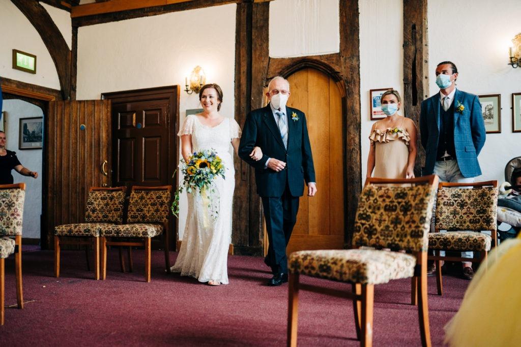 covid wedding in solar room archbishops