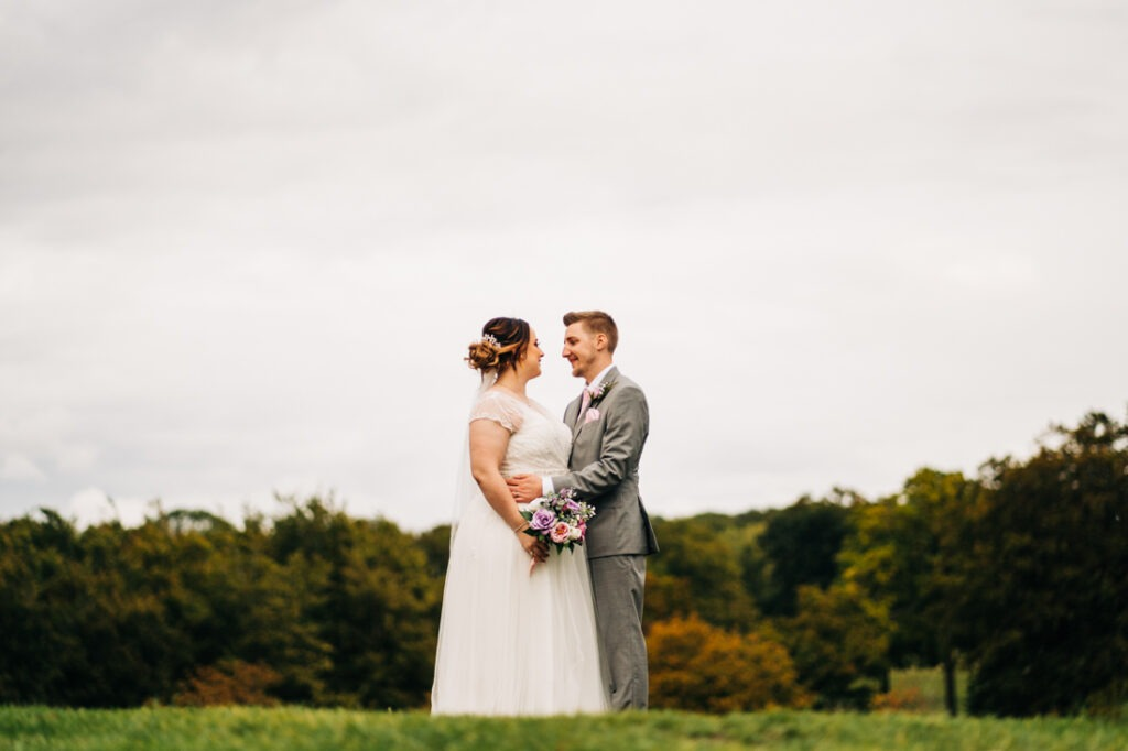 Golf course wedding portraits