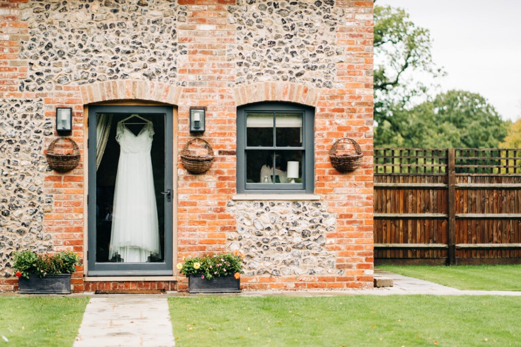 wedding dress at Nurstead Court
