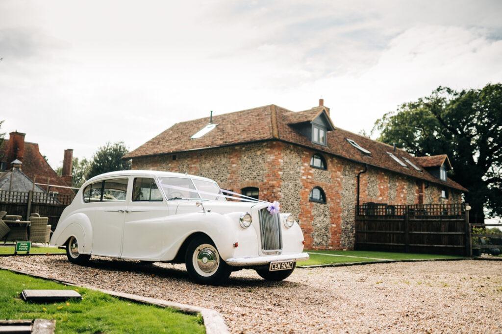 wedding car at Nurstead Court