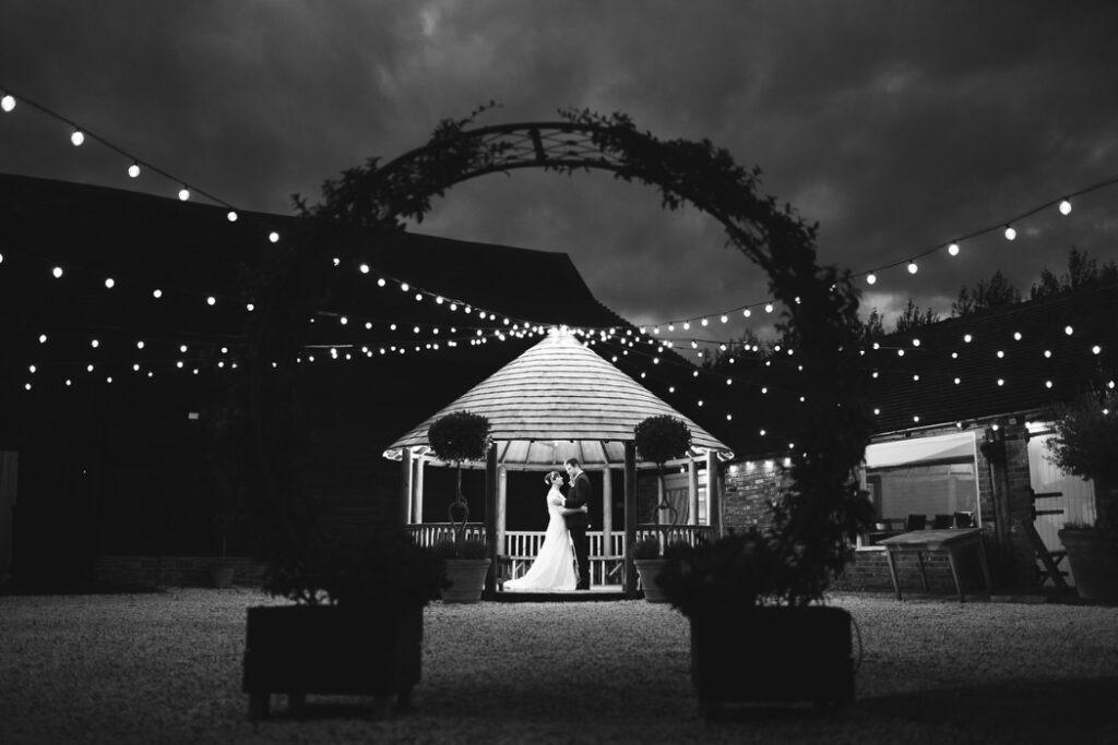 Couples portraits at Barnyard Twilight Wedding