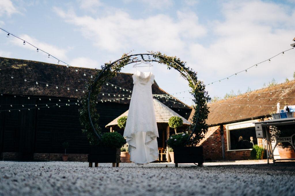 Wedding Dress at The Barnyard