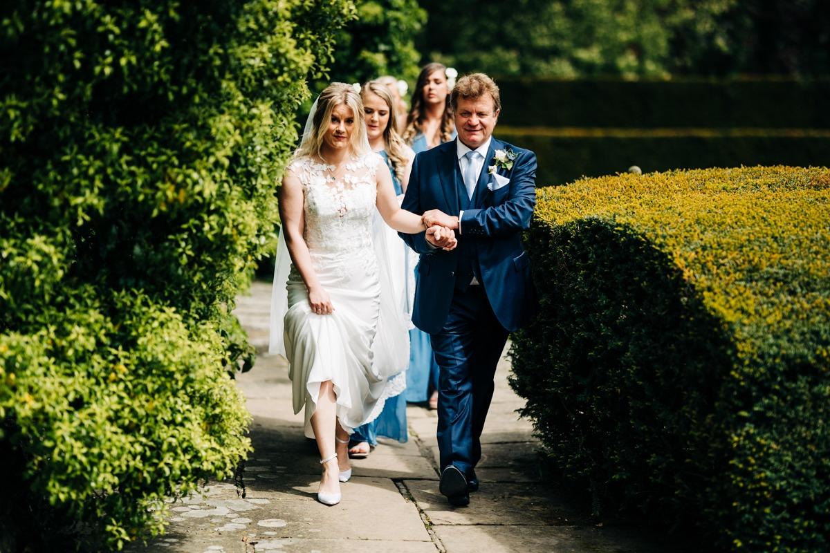 Dad walks bride down the aisle at Port Lympne