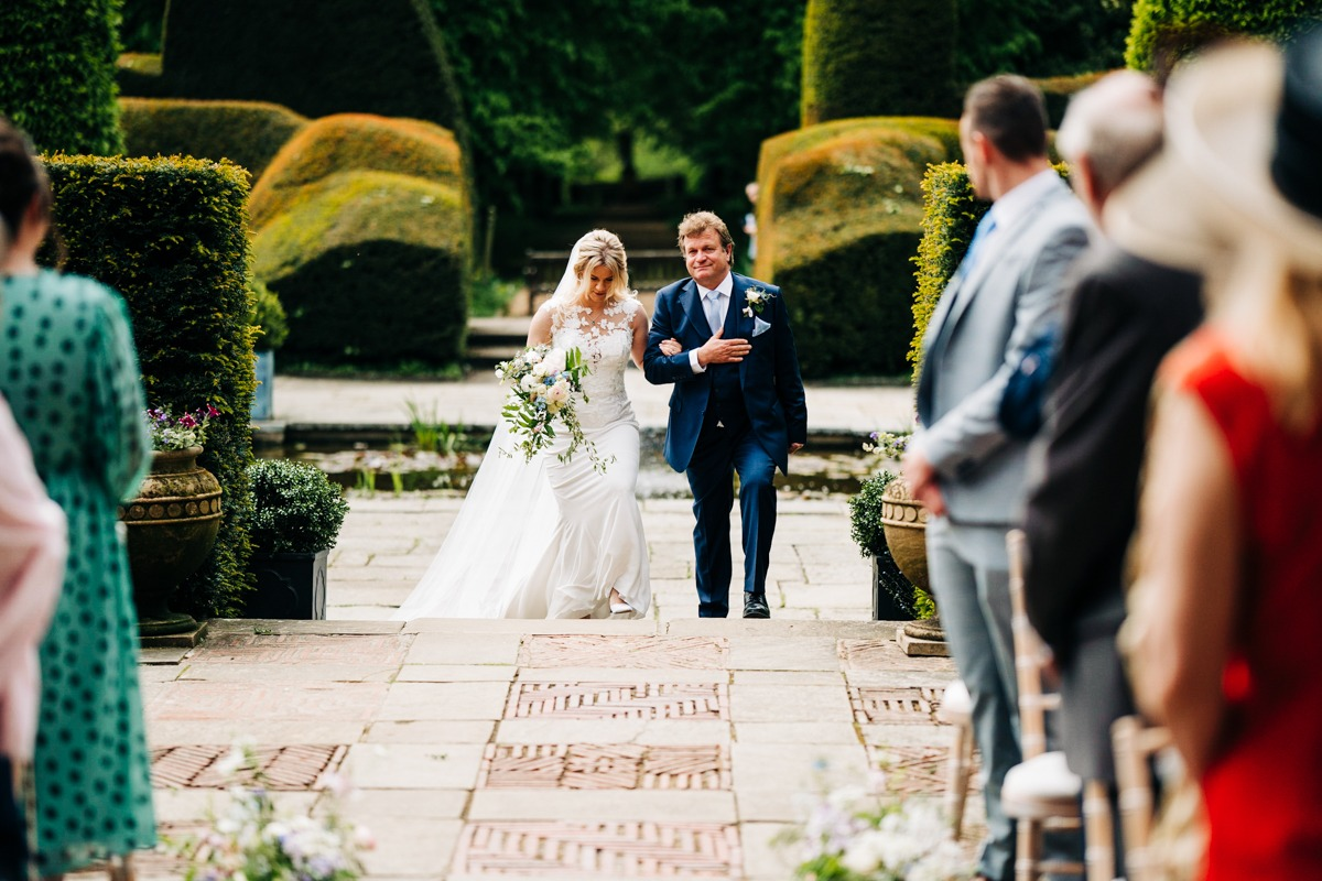 Bride and her Dad at Port Lympne
