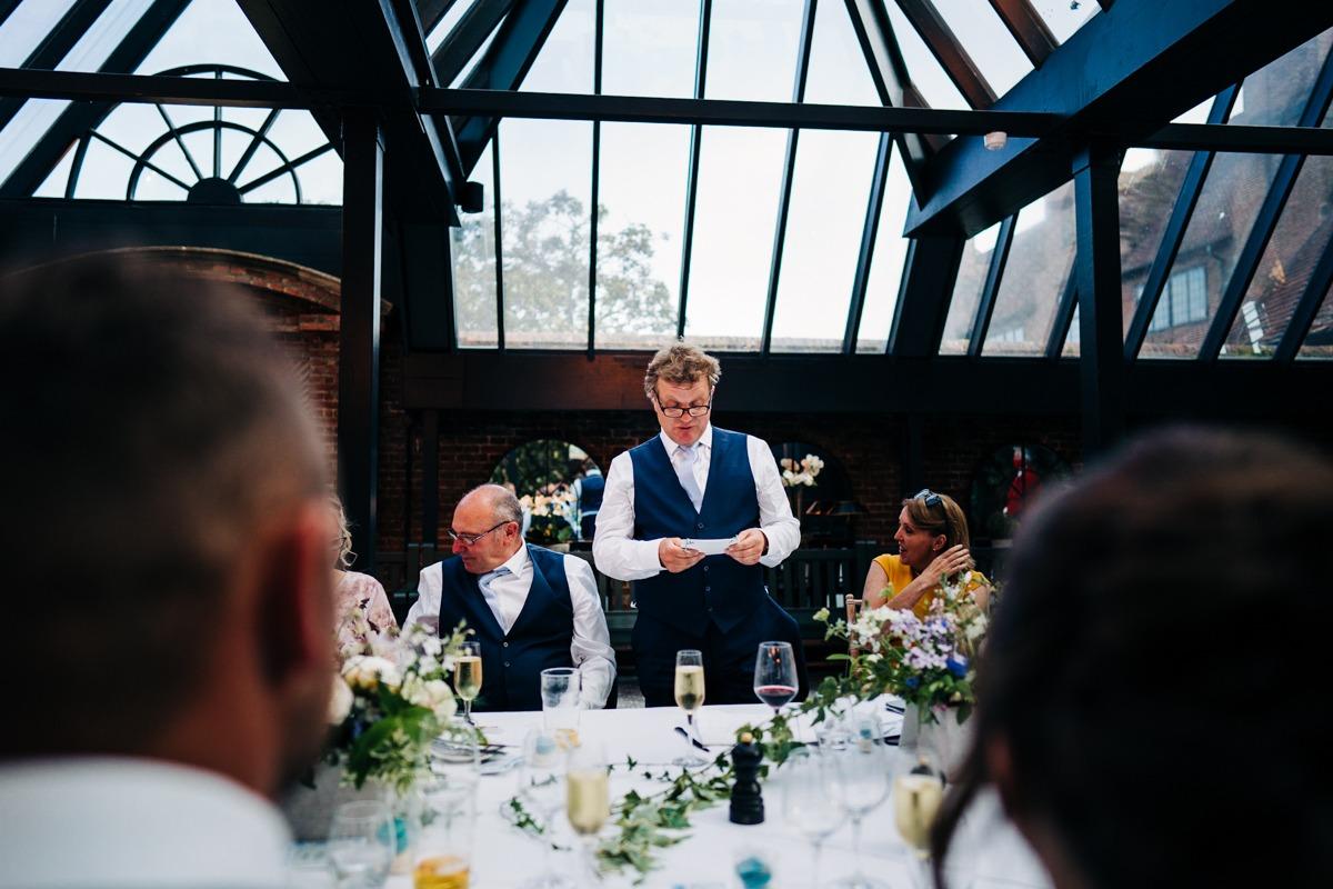 speeches at Port Lympne Wedding