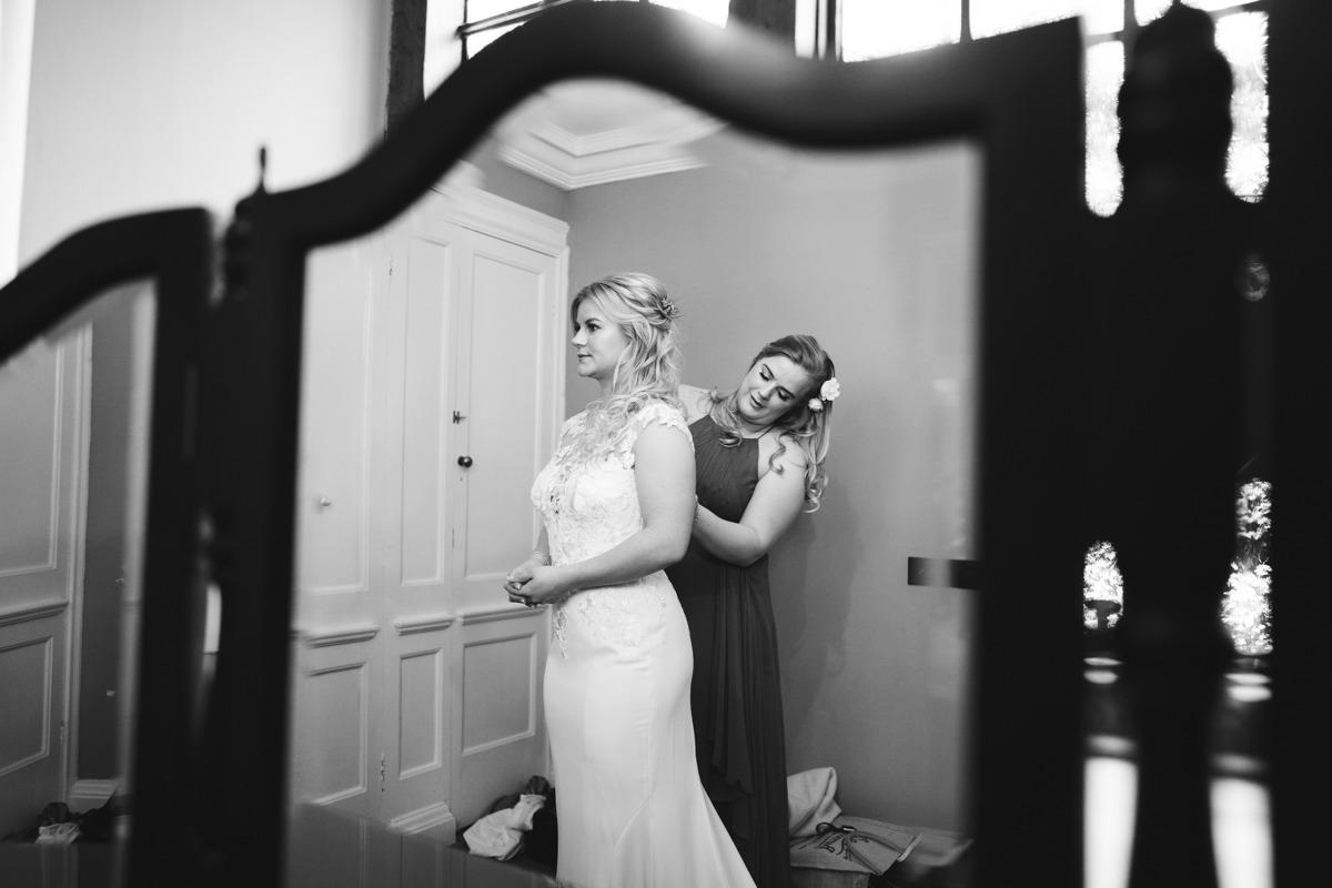 bride getting ready at Port Lympne