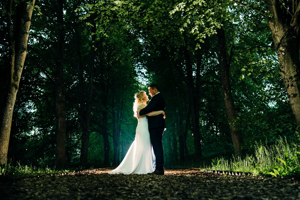 bride and groom portraits at Port Lympne