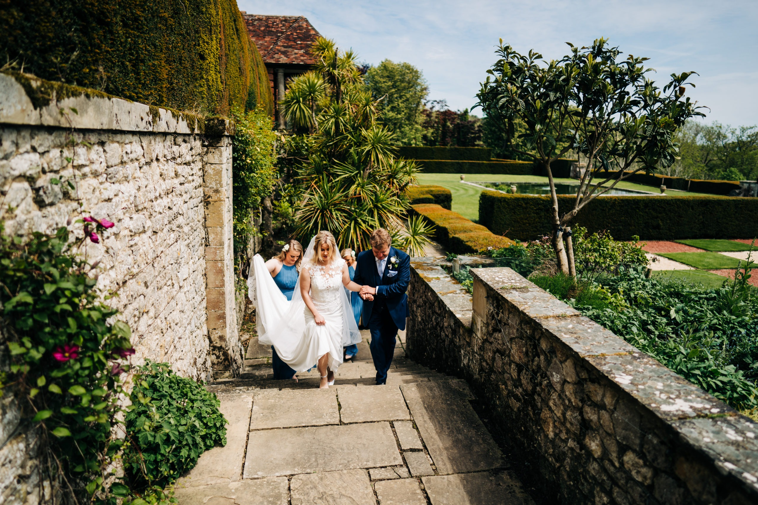 bride and daughter at Port Lympne